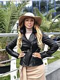 Черная стильная куртка из натуральной кожи Fabio Monti, фото 2