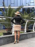 Черная стильная куртка из натуральной кожи Fabio Monti, фото 8