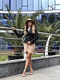 Черная стильная куртка из натуральной кожи Fabio Monti, фото 5