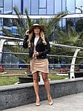 Черная стильная куртка из натуральной кожи Fabio Monti, фото 7