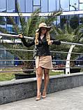 Черная стильная куртка из натуральной кожи Fabio Monti, фото 9
