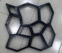 """Форма для виробництва тротуарної плитки """"Садова доріжка"""" - 60 * 60 см"""