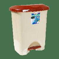 Ведро для мусора с педалью Irak Plastik Stella 45л бежевое