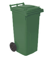 Бак для мусора на колесах с ручкой 120 л зеленый
