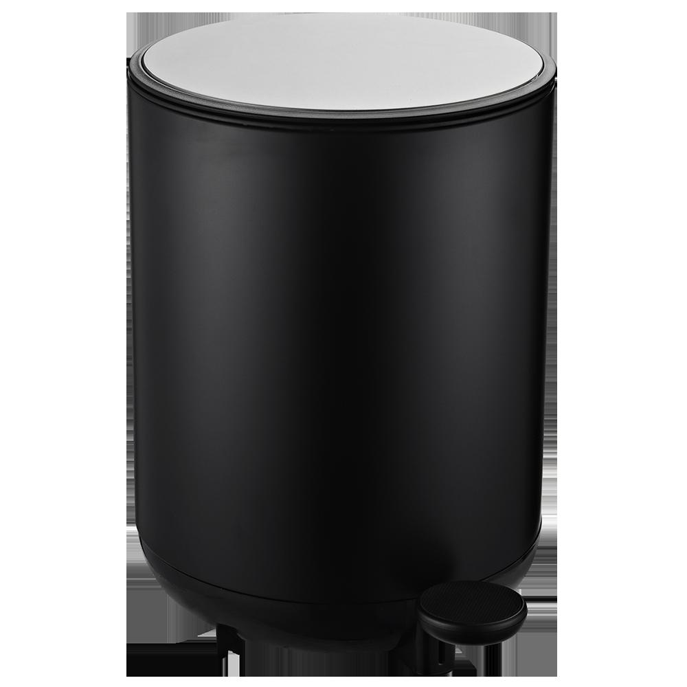 Відро для сміття з педаллю JAH 8 л чорне з внутрішнім відром