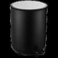 Відро для сміття з педаллю JAH 8 л чорне з внутрішнім відром, фото 1
