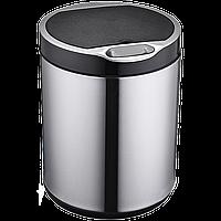 Сенсорное мусорное ведро JAH 20 л круглое серебряный металлик без внутреннего ведра, фото 1