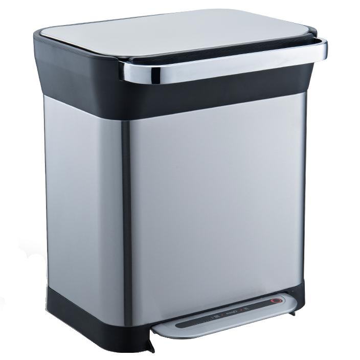 Відро для сміття з педаллю JAH 30 л темно-срібний металік