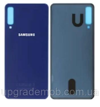 Задняя крышка Samsung A750F Galaxy A7 (2018), синяя, оригинал