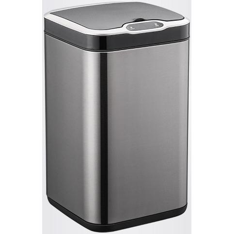 Сенсорное мусорное ведро JAH 13 л квадратное тёмно-серебряный металлик с внутренним ведром