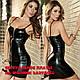 Соблазнительное платье на молнии Babydoll  Черное, фото 3