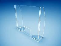 Захисний екран бар'єр перегородка для каси магазину 860х750х240мм (Товщина акрилу : 3 мм; ), фото 1