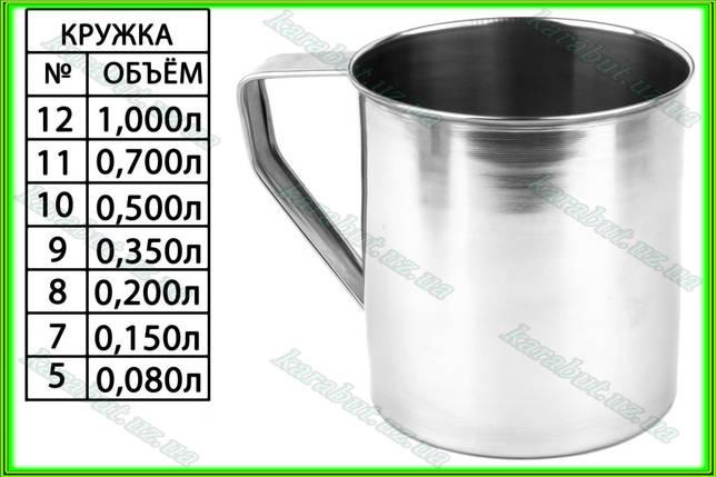 Кружка из нержавеющей стали № 7_V0,150л. ( H 7см ), фото 2