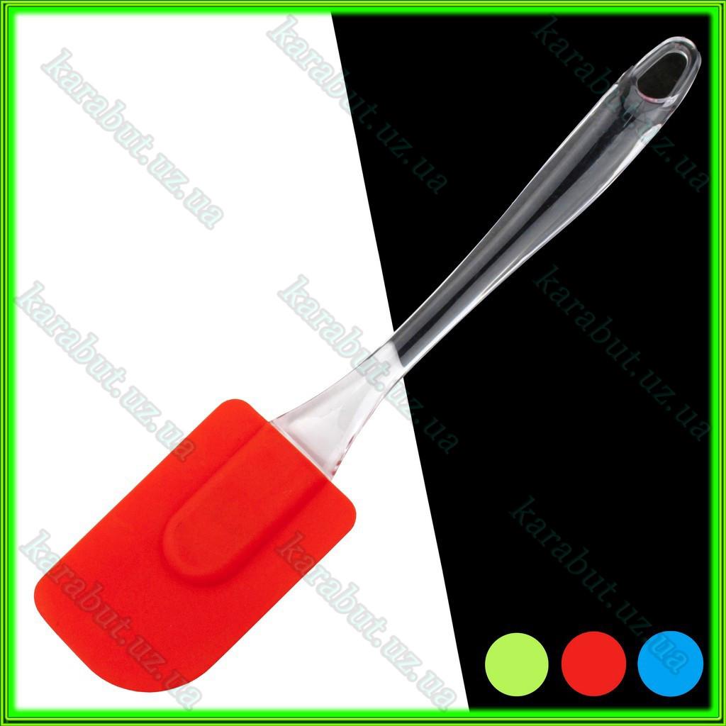 Лопатка силиконовая кухонная L24,5см ручка 16,5см ширина 5см