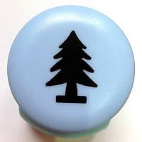 Дырокол фигурный Елка кнопка 2,5 см
