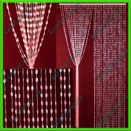 """Штора декоративная пластиковая """"Листик"""" Д74 розовый_H200см В90см, фото 2"""