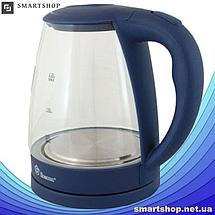 Электрочайник Domotec MS-8211 (2,2 л / 2200 Вт) - Чайник электрический с LED подсветкой Синий, фото 2