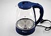 Электрочайник Domotec MS-8211 (2,2 л / 2200 Вт) - Чайник электрический с LED подсветкой Синий, фото 3