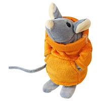 Мягкая игрушка ТМ Kidsqo Мышонок Сниффи серый с оранжевым - (15см)