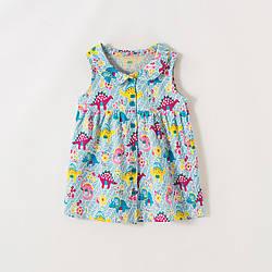 Сарафан для девочки Цветочные динозавры Little Maven (2 года)