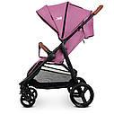 Детская прогулочная коляска ME 1024 X4 Plum розовая, фото 8