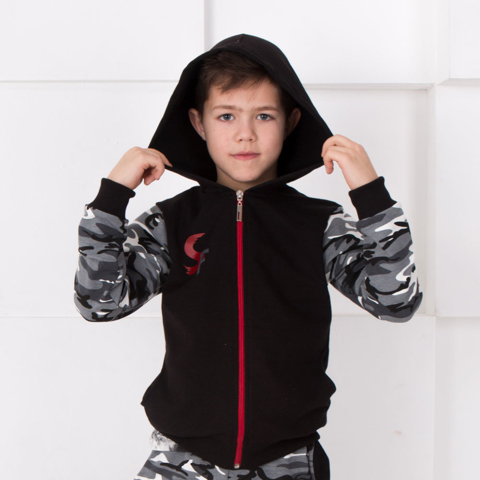 Детская кофта для мальчика KR-ST *Сафари* (122, 128, 134)
