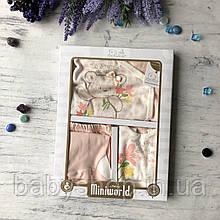 Крестильный костюм, подарочный набор на девочку Miniworld 6. Размер 62 см (1-3 мес)