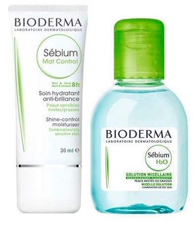Набор Bioderma Sebium (Средство Bioderma Sebium МАТ Контроль 30 мл + Лосьон Bioderma Sebium Н2О 100 мл в