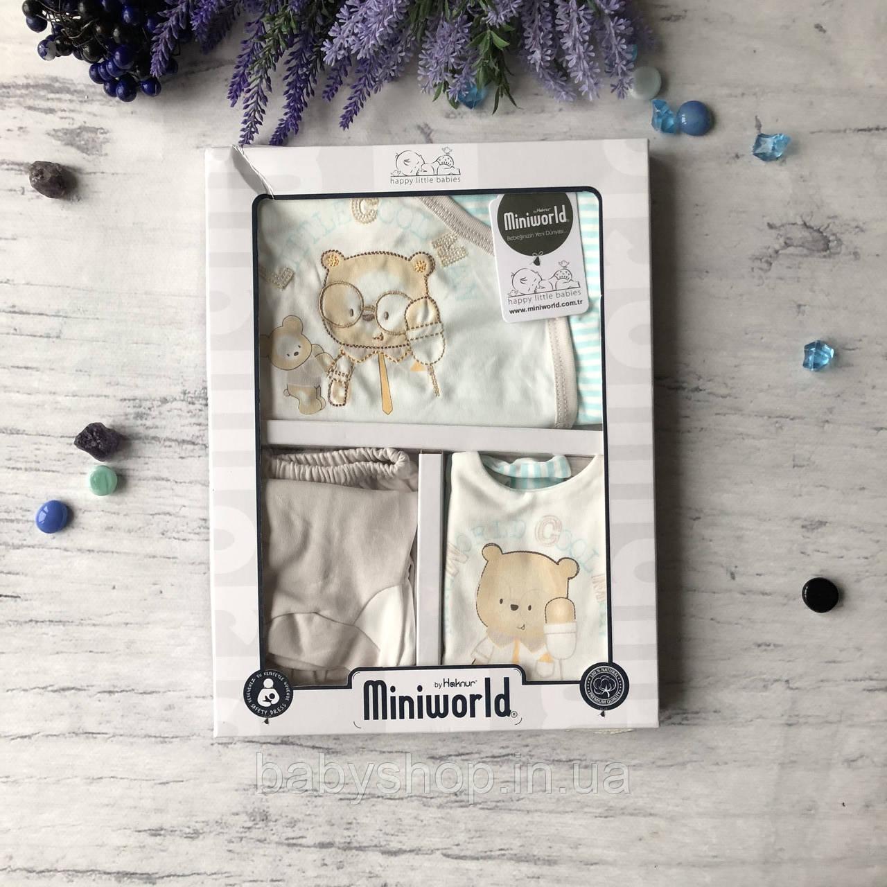 Крестильный костюм, набор на выписку для мальчика Miniworld 8. Размер 62 см (1-3 мес)