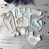 Крестильный костюм, набор на выписку для мальчика Miniworld 8. Размер 62 см (1-3 мес), фото 2