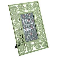 Рамка для фото Actuel Green Addict металлическая  10х15 см  в ассортименте. Auchan Ашан