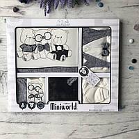 Крестильный костюм,  набор на выписку для мальчика Miniworld 4. Размер 62 см (1-3 мес)
