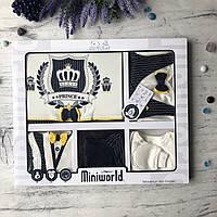 Крестильный костюм,  набор на выписку для мальчика Miniworld 7. Размер 62 см (1-3 мес)