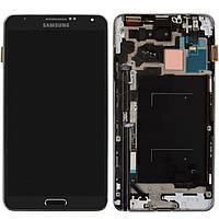Дисплей + touchscreen (сенсор) для Samsung Galaxy Note 3 N9000, с рамкой, серый, оригинал