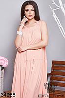 Женское летнее платье в пол 50-52,54-56,58-60,62-64
