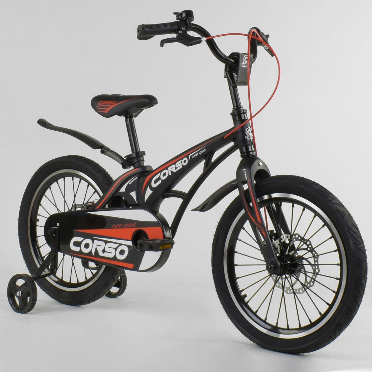 Велосипед CORSO MG-18W338 18 дюймов (магниевая рама, дисковые тормоза)