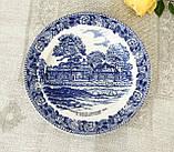 Коллекционная фарфоровая английская тарелка, Old English Staffordshire Ware, John Roth, Longfellow's Wayside, фото 2