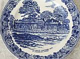 Коллекционная фарфоровая английская тарелка, Old English Staffordshire Ware, John Roth, Longfellow's Wayside, фото 5