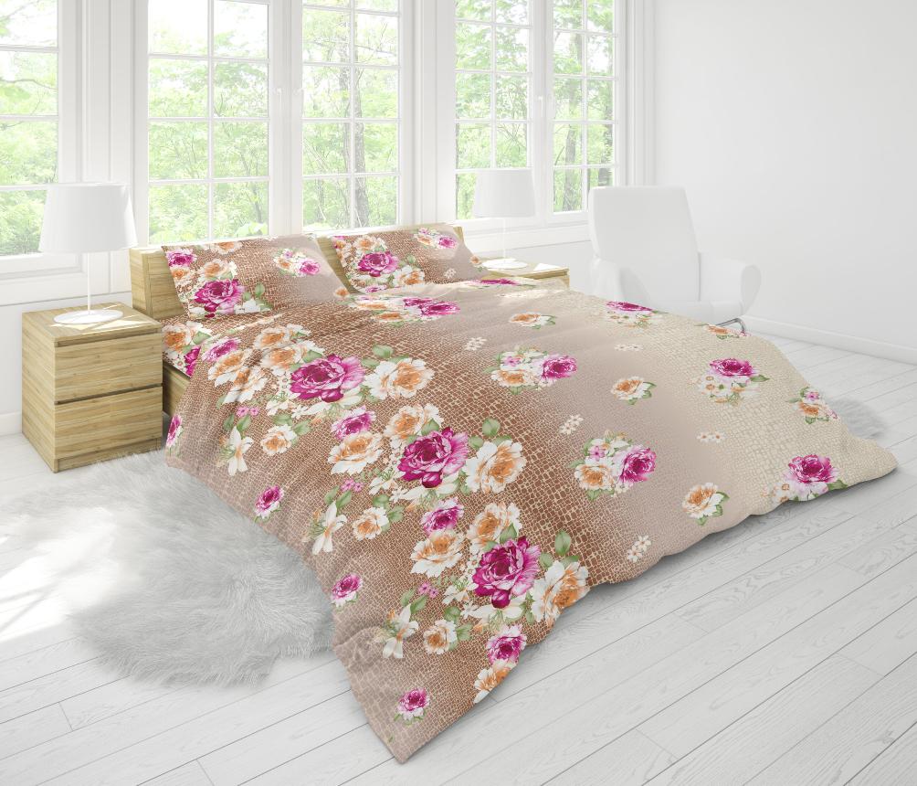 Ткань для постельного белья бязь Голд - Цветы 10