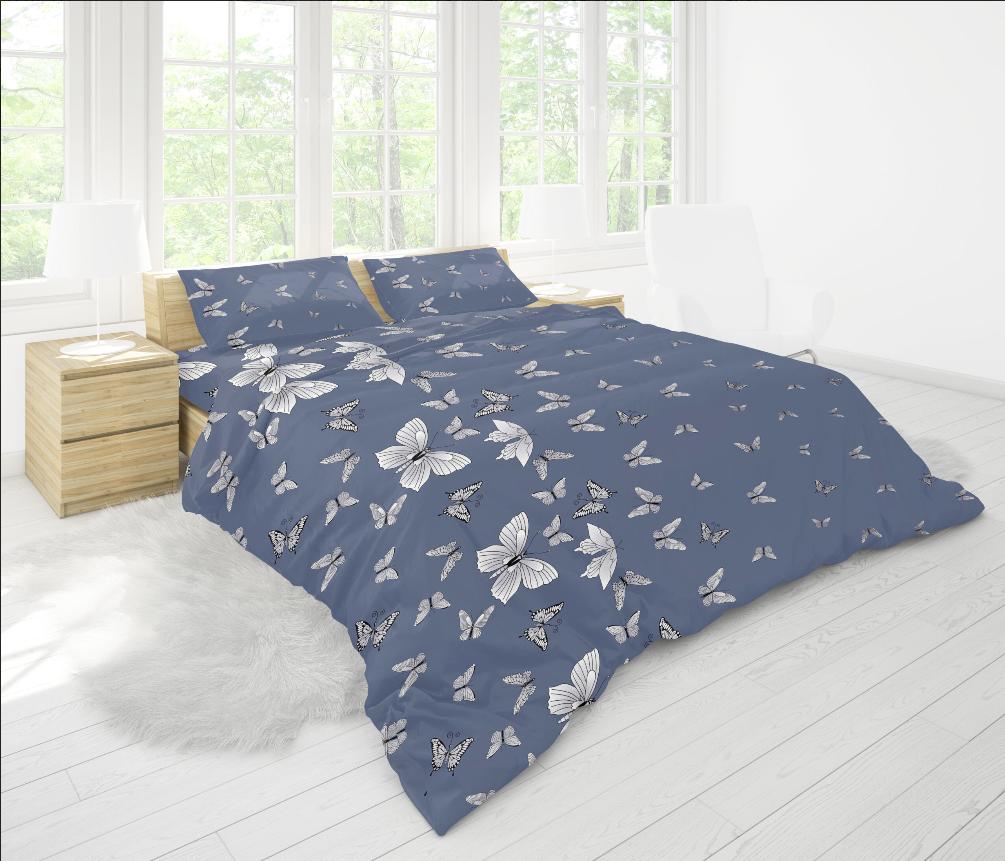 Ткань для постельного белья бязь Голд - Бабочки 01
