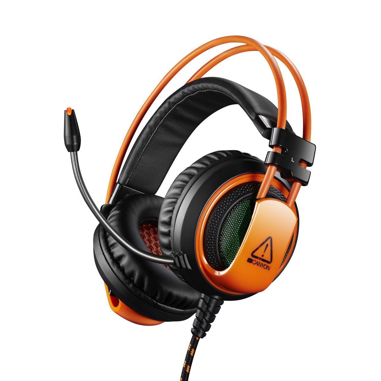Наушники Canyon CND-SGHS5 Black/Orange