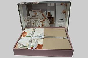 Комплект постільної білизни First Choice Ранфорс 200x220 leora somon, фото 2