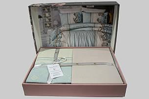 Комплект постельного белья First Choice Ранфорс 200x220 Arnica Mint, фото 2