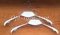 Вешалка-плечики с белой деревянной вставкой