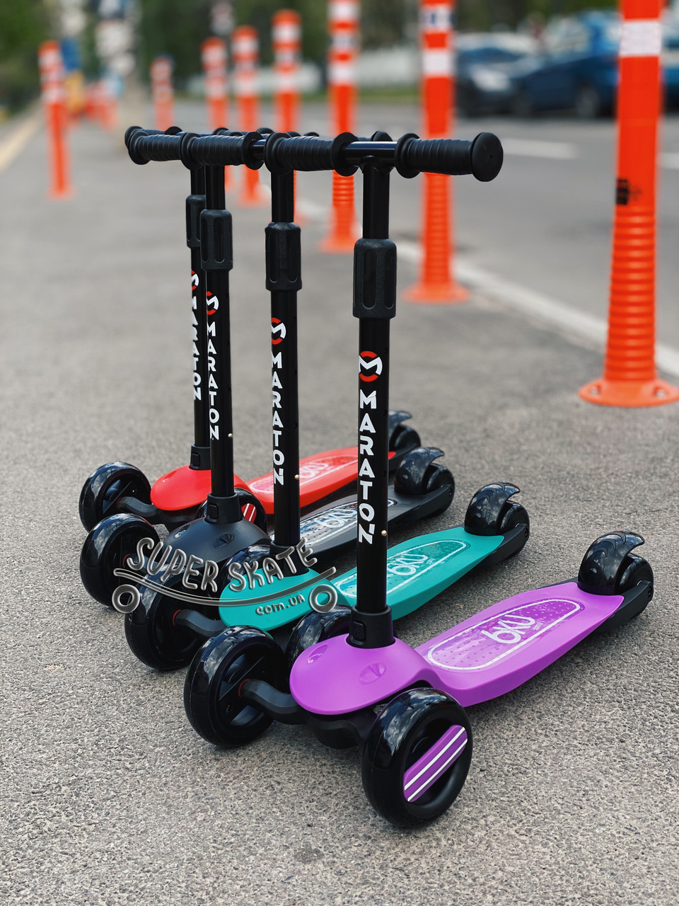 Детский Самокат со светящимися колесами SMART MINI