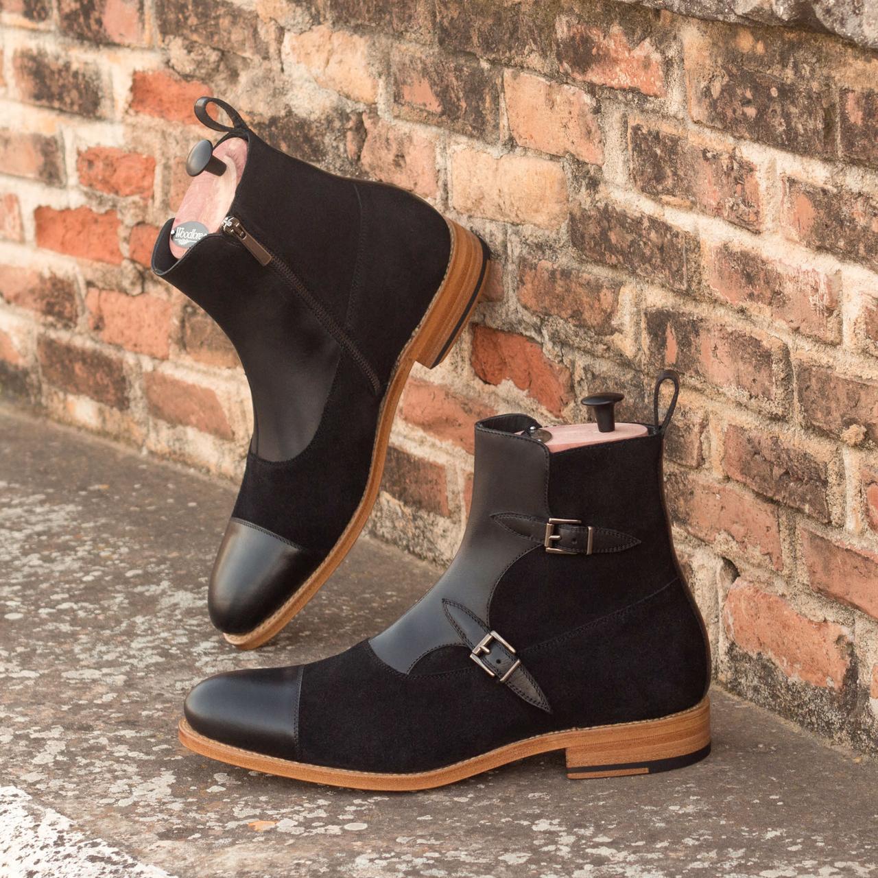 ✅ Мужские ботинки с пряжками ручной работы MAVI STEP No. 3295 (Goodyear Welted)