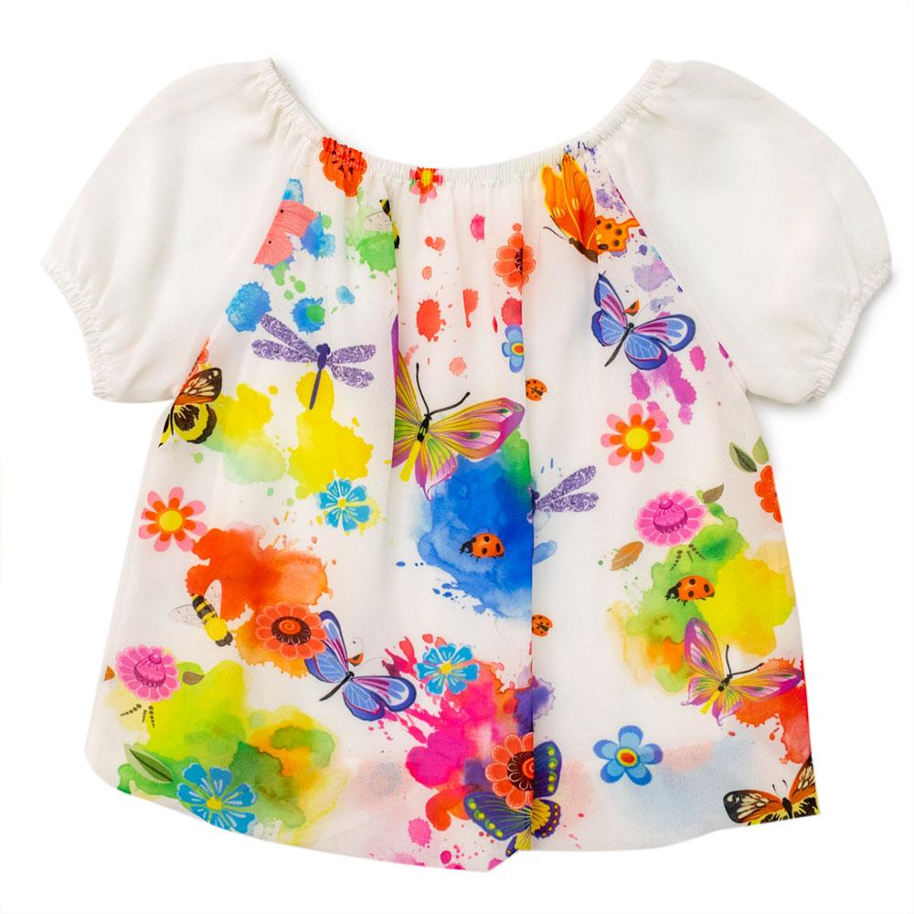 Блуза для девочек Kidsmod 116  белая 8126