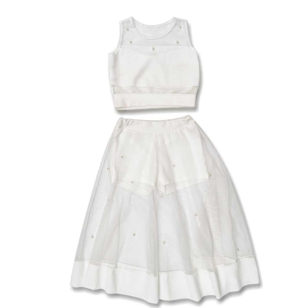 Комплект(юбка, блузка) для девочек Style younge 110  белый 8644-8648