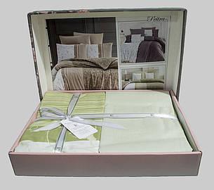 Комплект постільної білизни First Choice Ранфорс 200x220 Peitra Yesil, фото 2
