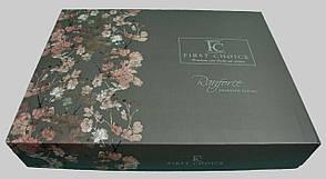 Комплект постільної білизни First Choice Ранфорс 200x220 Peitra Yesil, фото 3